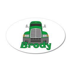 Trucker Brody 38.5 x 24.5 Oval Wall Peel