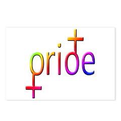 Gay Pride Female Postcards (Package of 8)