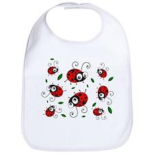 Cute Ladybug pattern Bib