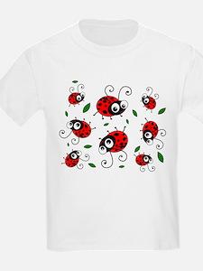 Cute Ladybug pattern T-Shirt