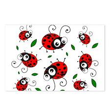 Cute Ladybug pattern Postcards (Package of 8)