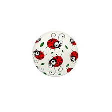 Cute Ladybug pattern Mini Button (10 pack)