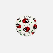 Cute Ladybug pattern Mini Button