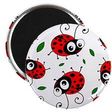 "Cute Ladybug pattern 2.25"" Magnet (10 pack)"