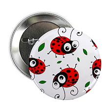 """Cute Ladybug pattern 2.25"""" Button"""