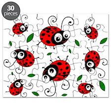 Cute Ladybug pattern Puzzle