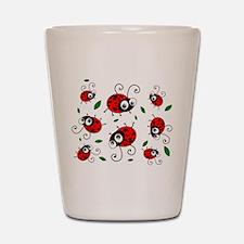 Cute Ladybug pattern Shot Glass