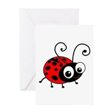 Cute Ladybug Greeting Card