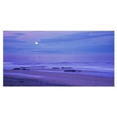Moon shining over the sea, Snaefellsnes, Borgarfjo Framed Print