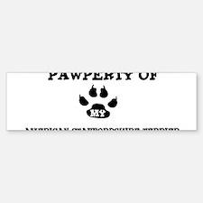 Pawperty: American Staffordsh Bumper Bumper Bumper Sticker