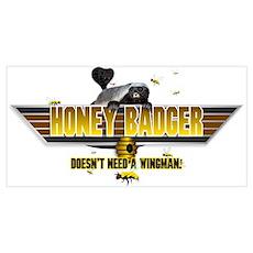 Honey Badger Top Gun Wingman Wall Art Poster