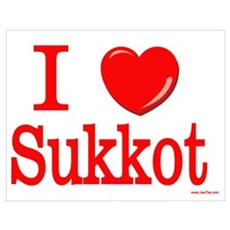 I Love Sukkot Wall Art Poster