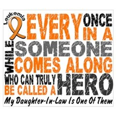 HERO Comes Along 1 Daughter-In-Law LEUK Wall Art Poster