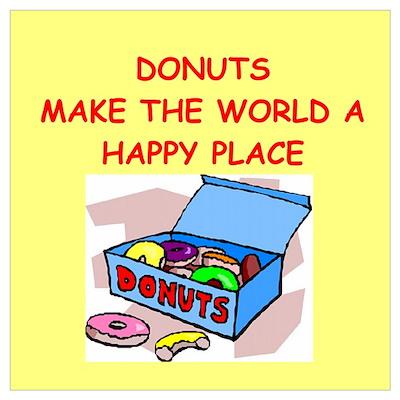 donuts gifts t-shirts Wall Art Poster
