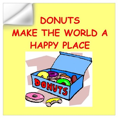 donuts gifts t-shirts Wall Art Wall Decal