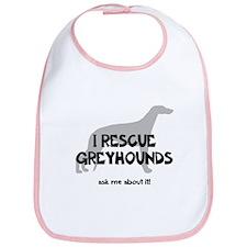 I RESCUE Greyhounds Bib