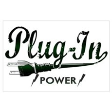 Plug-In Power Wall Art Poster