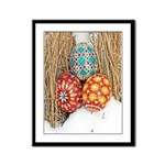 Pysanky in Snow Framed Panel Print