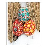 Pysanky in Snow Small Poster