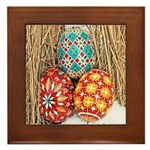 Pysanky in Snow Framed Tile
