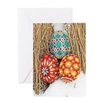 Pysanky in Snow Greeting Card