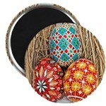 Pysanky in Snow Magnet