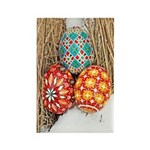 Pysanky in Snow Rectangle Magnet