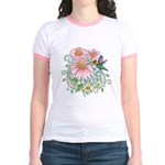 Coneflower Hummingbird Jr. Ringer T-Shirt