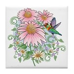 Coneflower Hummingbird Tile Coaster