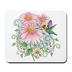 Coneflower Hummingbird Mousepad