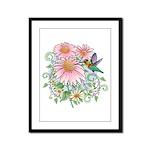 Coneflower Hummingbird Framed Panel Print