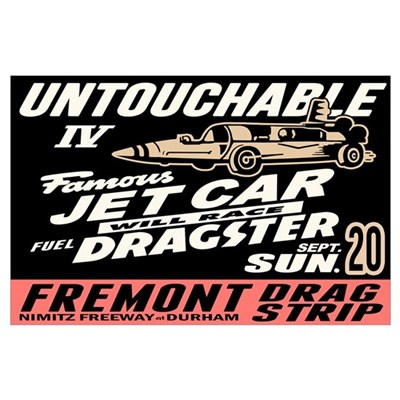 Untouchable Jet Car Wall Art Poster
