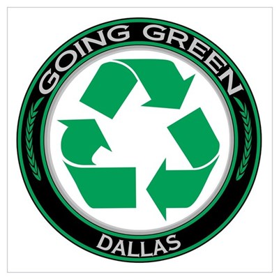 Going Green Dallas Recycle Wall Art Poster