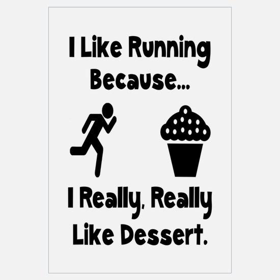 Running Dessert Wall Art