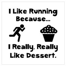 Running Dessert Wall Art Poster