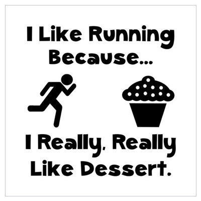 Running Dessert Wall Art Canvas Art