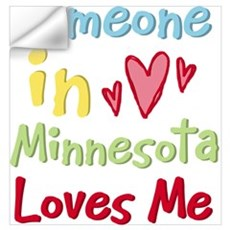Someone in Minnesota Loves Me Wall Art Wall Decal