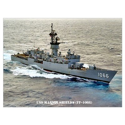 USS MARVIN SHIELDS Wall Art Poster