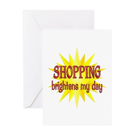 Shopping Brightens Greeting Card