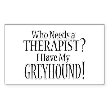THERAPIST Greyhound Sticker (Rectangle)