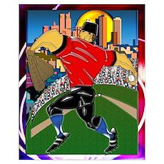 Wall Art Baseball Pitcher Poster