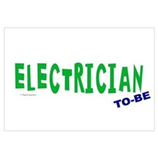 Electrician To Be Wall Art Framed Print