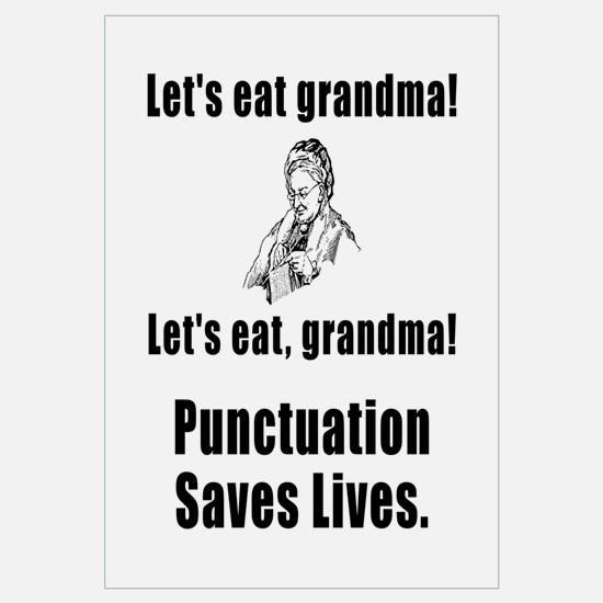 Lets Eat Grandma! Wall Art