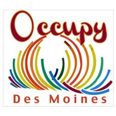 Occupy Des Moines Wall Art Poster