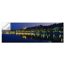 Reflection of buildings in water, Menton, Alpes-Ma Wall Decal
