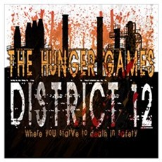District 12 Mining Hunger Games Gear Wall Art Poster