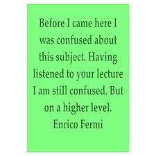 Enrico Fermi quotes Wall Art