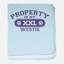 Westie PROPERTY baby blanket