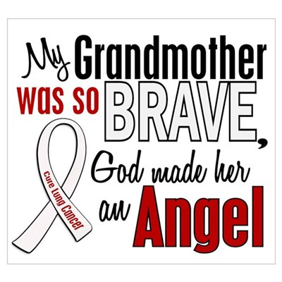 Angel 1 GRANDMOTHER Lung Cancer Wall Art Poster