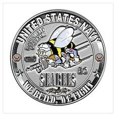USN Seabees Equipment Operato Wall Art Poster